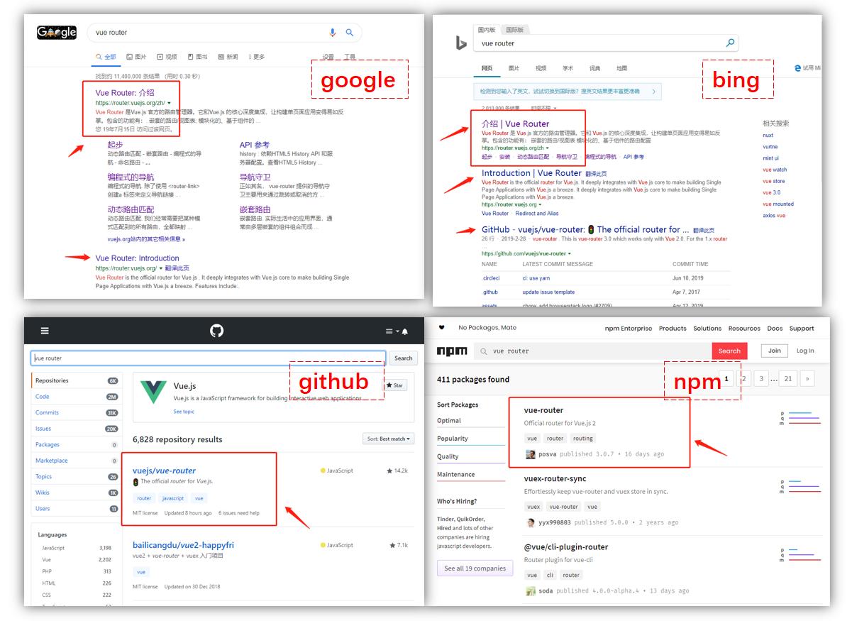 搜索开源库和工具